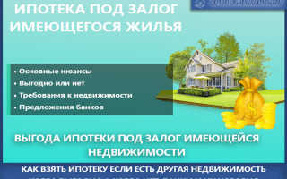 Как взять ипотеку под залог имеющегося жилья