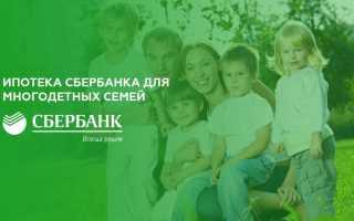 Ипотека сбербанка для многодетных семей в 2020 году