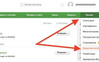 Как узнать кредитную историю в сбербанке россии
