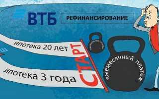 На каких условиях возможно перекредитование в банке втб 24