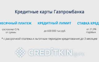 Как открыть кредитную карту газпромбанка
